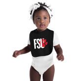 Black Baby Bib-FSU Primary Logo