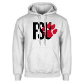 White Fleece Hoodie-FSU Primary Logo