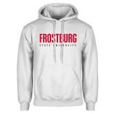 White Fleece Hoodie-Frostburg State University