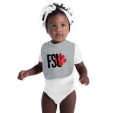 Grey Baby Bib-FSU Primary Logo