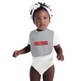 Grey Baby Bib-Frostburg State Wordmark Logo