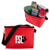 Six Pack Red Cooler-FSU Primary Logo