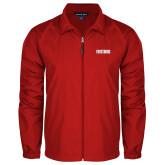 Full Zip Red Wind Jacket-Frostburg State Wordmark Logo