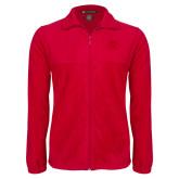 Fleece Full Zip Red Jacket-FSU Primary Logo