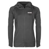 Ladies Sport Wick Stretch Full Zip Charcoal Jacket-Frostburg State University