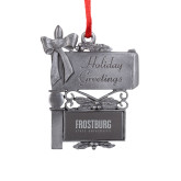 Pewter Mail Box Ornament-Frostburg State University Engraved