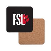 Hardboard Coaster w/Cork Backing-FSU Primary Logo