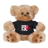Plush Big Paw 8 1/2 inch Brown Bear w/Black Shirt-FSU Primary Logo