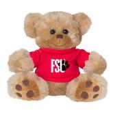 Plush Big Paw 8 1/2 inch Brown Bear w/Red Shirt-FSU Primary Logo