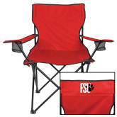 Deluxe Red Captains Chair-FSU Primary Logo