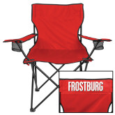 Deluxe Red Captains Chair-Frostburg State Wordmark Logo