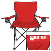 Deluxe Red Captains Chair-Frostburg State University Logo