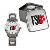 Mens Stainless Steel Fashion Watch-FSU Primary Logo