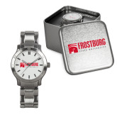 Mens Stainless Steel Fashion Watch-Frostburg State University Logo