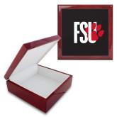 Red Mahogany Accessory Box With 6 x 6 Tile-FSU Primary Logo