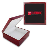 Red Mahogany Accessory Box With 6 x 6 Tile-Frostburg State University Logo