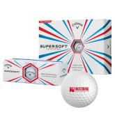 Callaway Supersoft Golf Balls 12/pkg-Frostburg State University Logo