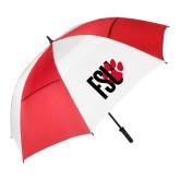62 Inch Red/White Vented Umbrella-FSU Primary Logo
