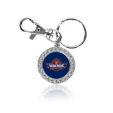 Crystal Studded Round Key Chain-Official Logo