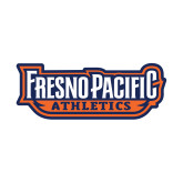 Small Decal-Fresno Pacific Athletics Stacked, 6 inches wide
