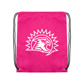 Pink Drawstring Backpack-Sunbird Head