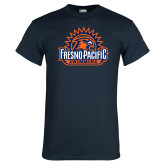 Navy T Shirt-Fresno Pacific Swimming
