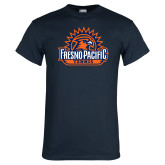 Navy T Shirt-Fresno Pacific Tennis
