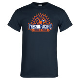 Navy T Shirt-Fresno Pacific Track & Field