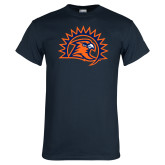 Navy T Shirt-Sunbird Head