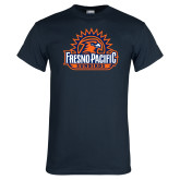 Navy T Shirt-Fresno Pacific Sunbirds Stacked