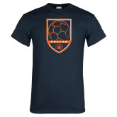 Navy T Shirt-Soccer Shield