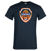Navy T Shirt-Sunbirds Soccer Shield