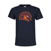 Youth Navy T Shirt-Sunbird Head