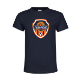 Youth Navy T Shirt-Sunbirds Soccer Shield