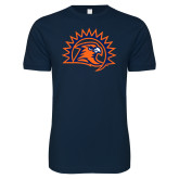 Next Level SoftStyle Navy T Shirt-Sunbird Head