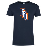 Ladies Navy T Shirt-Angled FPU