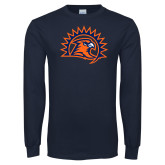 Navy Long Sleeve T Shirt-Sunbird Head