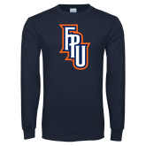 Navy Long Sleeve T Shirt-Angled FPU