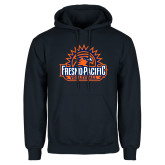 Navy Fleece Hoodie-Fresno Pacific Volleyball