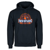 Navy Fleece Hoodie-Fresno Pacific Sunbirds Stacked