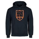 Navy Fleece Hoodie-Soccer Shield