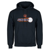 Navy Fleece Hoodie-Sunbirds Volleyball w/ Flying Ball