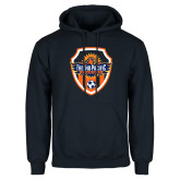 Navy Fleece Hoodie-Sunbirds Soccer Shield