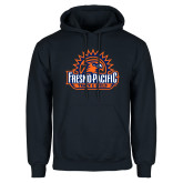 Navy Fleece Hoodie-Fresno Pacific Track & Field