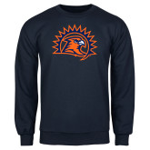 Navy Fleece Crew-Sunbird Head