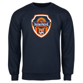 Navy Fleece Crew-Sunbirds Soccer Shield
