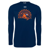 Under Armour Navy Long Sleeve Tech Tee-Sunbird Head