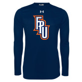Under Armour Navy Long Sleeve Tech Tee-Angled FPU