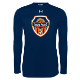 Under Armour Navy Long Sleeve Tech Tee-Sunbirds Soccer Shield