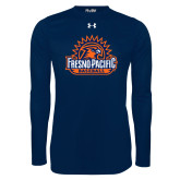 Under Armour Navy Long Sleeve Tech Tee-Fresno Pacific Baseball